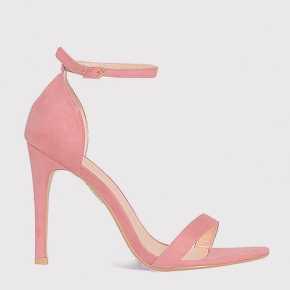 Shoes - Pink Nude Straps Heels